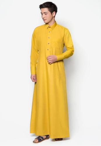 Amar Amran yellow Jubah A Daler Yusuf Edition Slim Fit (Yellow Mustard) DCC9BAAD7A500DGS_1