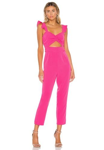 Boohoo  Purple Poppy Bardot Frill Leg Culotte Jumpsuit size 10