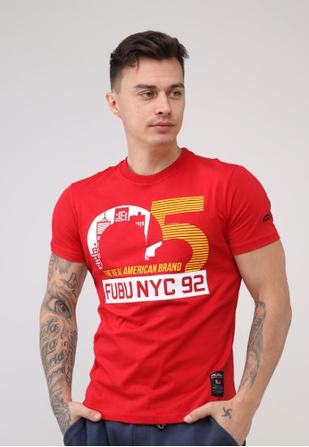 Fubu Boys red Round Neck Muscle Fit T-Shirt 67ADCAA22C5142GS_1