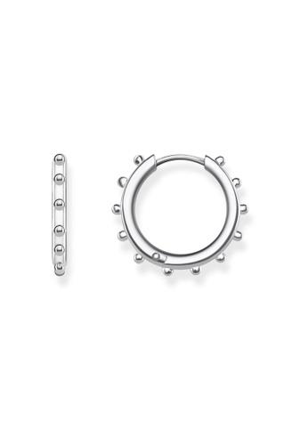 """THOMAS SABO silver hoop earrings """"Dots"""" BFE72ACA41F6EFGS_1"""
