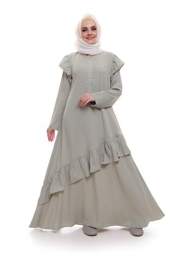 Allev green Zalfa Dress - Hijau E6BC3AA613072AGS_1
