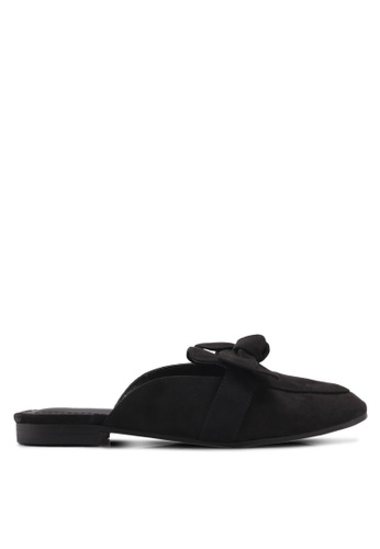 Rubi black Evie Bow Mule Slip Ons 04196SH8E3CFFDGS_1