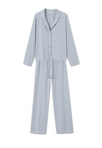 MANGO KIDS blue Cotton Long Pyjamas D5D04KA3F8D947GS_1