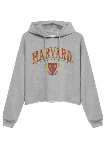 MANGO KIDS grey Harvard University Sweatshirt 7346FKA5385D32GS_1