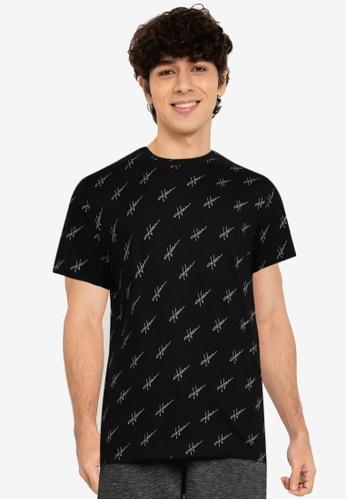 Hollister black Logo Crew Neck T-Shirt 4F10CAA0A4D8C1GS_1