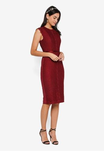 Shop ZALORA Bridesmaid Lace Pencil Dress Online on ZALORA Philippines 909f4118b