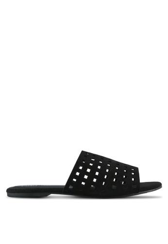 Rubi black Sleek Slides Sandals RU506SH0SL51MY_1