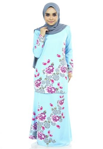 Ashura green Campaka Kurung With Flora Batik Motifs 30511AA0455FB1GS_1