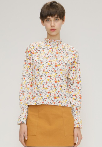 OUTSTANDING ORDINARY white Floral Shirt OU203AA55NXWSG_1