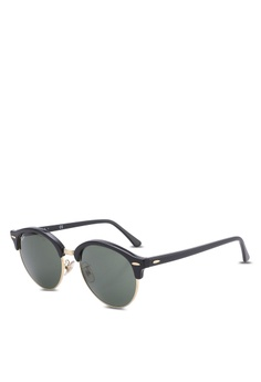 06bf992a5fd Ray-Ban black Clubround RB4246F Sunglasses RA896GL48MRBMY 1