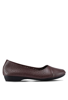 a00d0369264 Louis Cuppers brown Perforated Ballerina Flats 8B45ASHB598E80GS 1