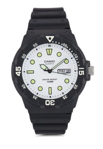 Casio black Casio Men's Black Resin Quartz Watch with White Dial CA843AC32XXZMY_1