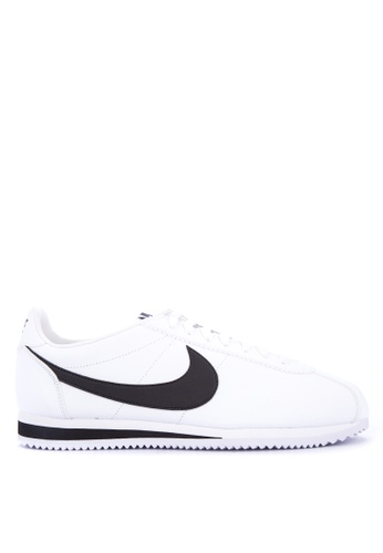 Nike black and white Men's Nike Classic Cortez Leather Shoes 76117SHA998C3EGS_1