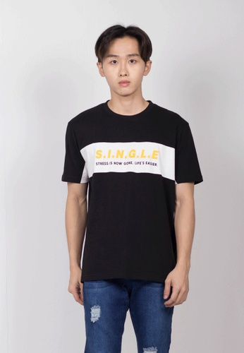 Hi Style black Graphic Short Sleeve T-Shirt 2FE7BAA0D9F907GS_1