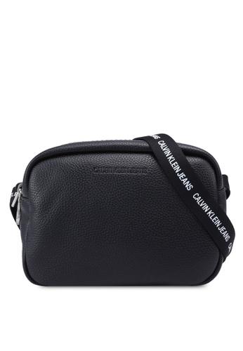 Calvin Klein black Double Zip Crossbody Bag A444FAC662997EGS_1