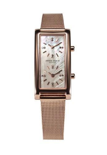 Aries Gold gold Aries Gold Enchant Gemini Rose Gold Watch 6CA87AC3AEA4E6GS_1