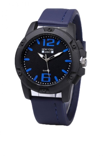 Greatvalueplus blue Blanchefleur Men's Analog Rubber Watch NYA 319 FB34CAC9460827GS_1