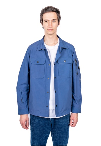 East Pole blue Men's 13 Pockets Travel Windbreaker Jacket AB761AA33E2694GS_1