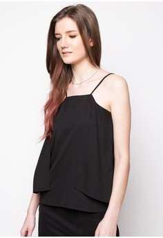Halter Top with Open Back and Excess Fabric Detail