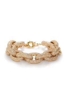 Signature Crystal Pave Chain Bracelet