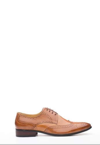 Kings Collection brown Hillson Brogue Lace Up Shoes 33E5FSH5FDAD43GS_1