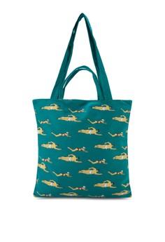 Swimming Print Fashion Tote Bag
