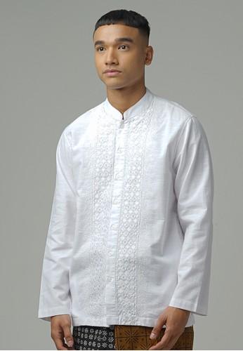 ZOYA white Rafha Kaftan Menswear ZOYA 2B04CAABC6EAA9GS_1