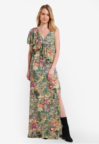 Mango green Floral Print Dress MA193AA0RK8BMY_1