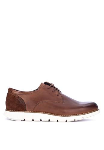 Alberto brown Formal Plain Toe Oxford Shoes 4279CSH36C9C76GS_1