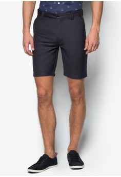 Formal Suiting Shorts With Double Belt Loop