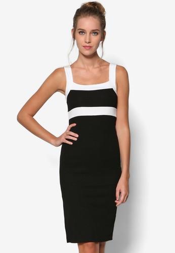Ms. Stylista 撞色拼接及膝洋裝, esprit分店服飾, 絕美洋裝