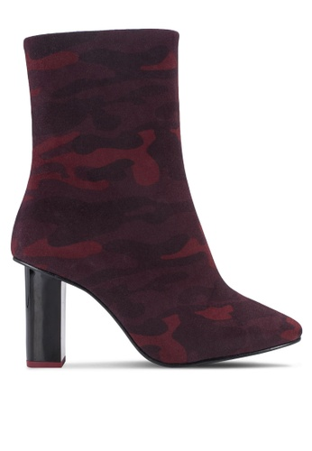 TOPSHOP red Matchstick Camo Boots TO412SH13TSGMY_1
