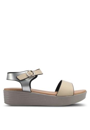 Spiffy gold Casual Wear Platform Sandals SP352SH0SRX8MY_1