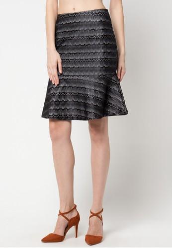 WHITEMODE black Alani Skirt WH193AA62HYJID_1
