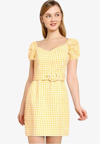 Forever New yellow Nakita Utility Bardot Dress EAE3CAA09A8D2AGS_1