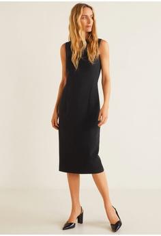 49554358631 50% OFF Mango Pleated Shoulder Dress RM 240.90 NOW RM 120.90 Sizes XS S M L  XL