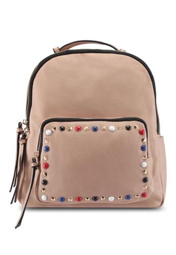 Perllini&Mel beige Faux Leather Backpack 74944ACB8A021CGS_1