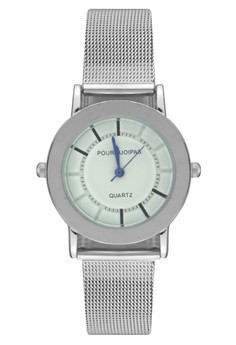Pourquoipas Women's Analog Stainless Steel Wrist Watch