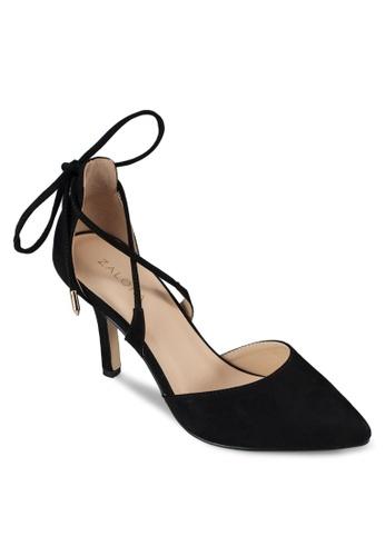 ZALORA 黑色 繫帶設計細高跟鞋 ADLALSH0000024GS_1