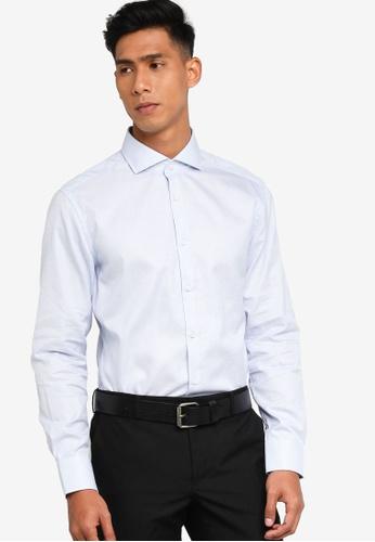 BOSS blue T-Christo Long Sleeve Shirt - BOSS Men A0CBAAA78858A1GS_1