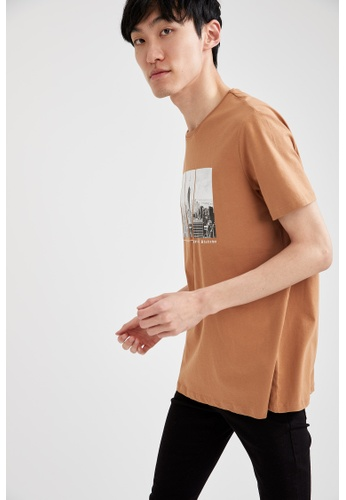DeFacto brown Man Knitted T-Shirt CD204AA5EF424DGS_1