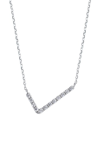 The LoveMark silver V-shape Necklace TH516AC85OWOPH_1