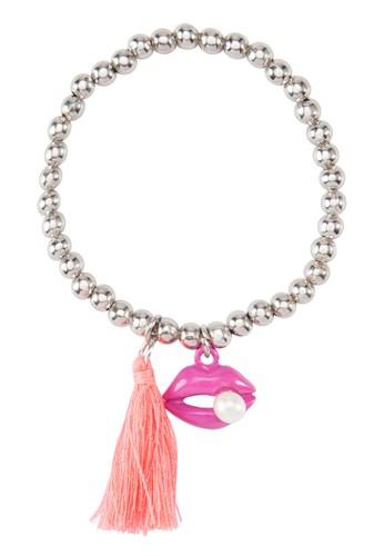唇形流蘇銀珠手鍊, 飾品配件,esprit 眼鏡 飾品配件