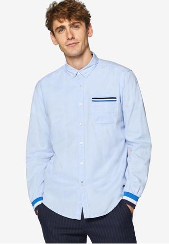 ESPRIT blue Woven Long Sleeve Shirt 4E5A8AA3A369A9GS_1