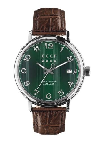 CCCP brown CCCP Men's Brown Genuine Leather Strap Watch - CP-7021-0B 92EF8ACCEC58DAGS_1