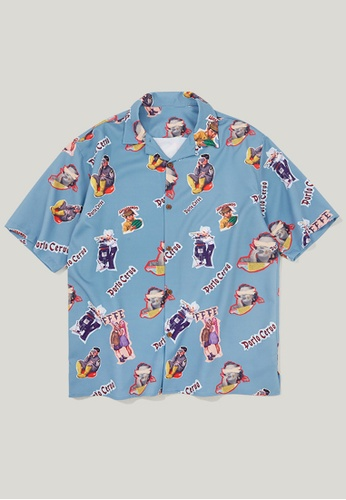 Twenty Eight Shoes Loose Printed Short Shirt 9220S F99F9AAD2CDB64GS_1