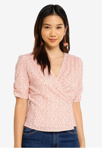 Charlie Holiday pink Juniper Wrap Top D1475AA9C2618EGS_1