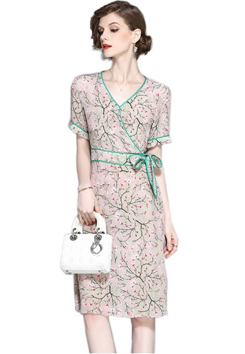Sunnydaysweety multi 2017 Summer Floral Dress With Butterfly Knot Detail CA071215 SU219AA88SGXSG_1