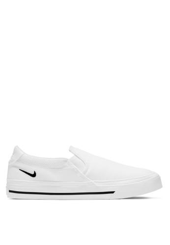 Nike white Women's Court Legacy Slip-Ons A96D6SH3308C55GS_1
