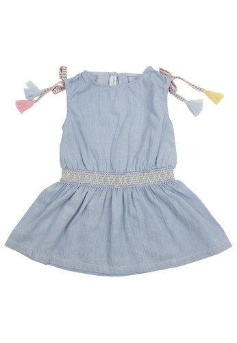 Gingersnaps blue Gingersnaps Fruit Frenzy Dress Lt Blue 16143KAC789587GS_1